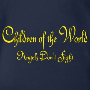 Children of the World - Angels don't fight - Organic Short-sleeved Baby Bodysuit