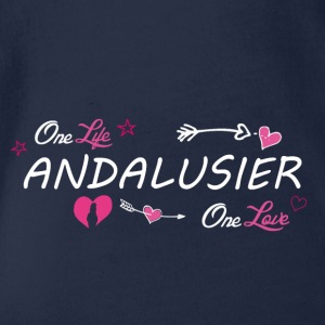 Andalusier - Baby Bio-Kurzarm-Body