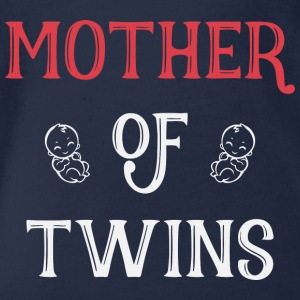 Mother of Twins mother day - Organic Short-sleeved Baby Bodysuit