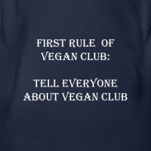 Vegan Club - Organic Short-sleeved Baby Bodysuit