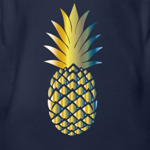 Colorful pineapple - Organic Short-sleeved Baby Bodysuit