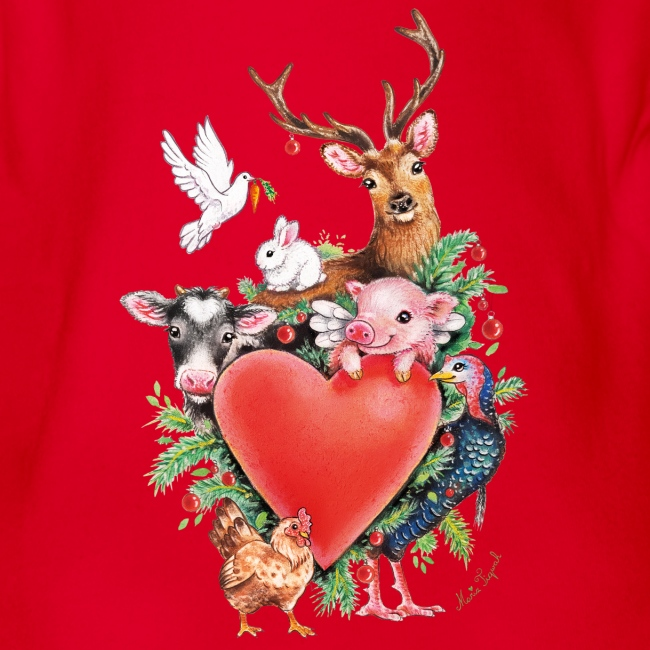 Christmas heart by Maria Tiqwah