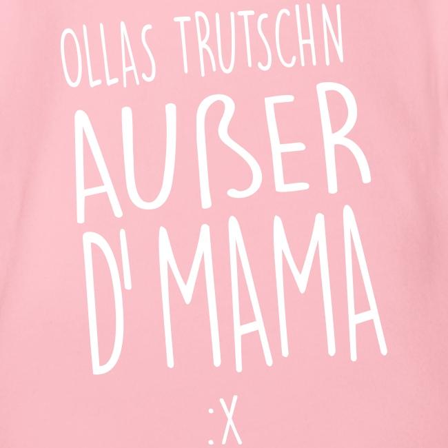 Vorschau: Ollas Trudschn außer d'Mama - Baby Bio-Kurzarm-Body