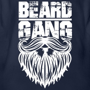 beard gang white - Baby Bio-Kurzarm-Body