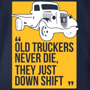 Old truckers - Organic Short-sleeved Baby Bodysuit