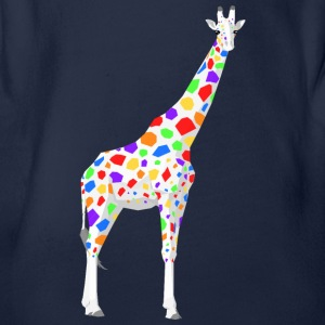 Colorful Giraffe - Organic Short-sleeved Baby Bodysuit