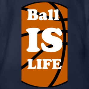 Ball is Life Basketball Limited - Organic Short-sleeved Baby Bodysuit
