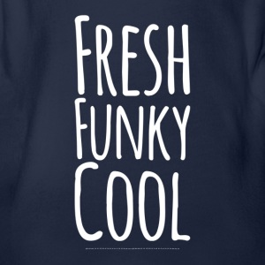 Fresh Funky Cool weiss - Baby Bio-Kurzarm-Body