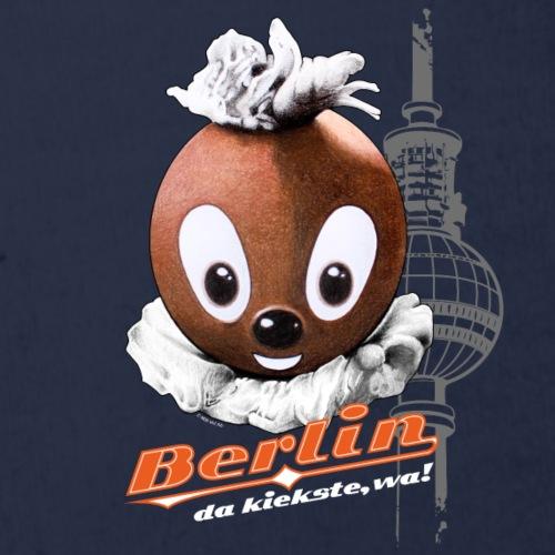 Pittiplatsch 3D Berlin auf dunkel - Baby Bio-Kurzarm-Body