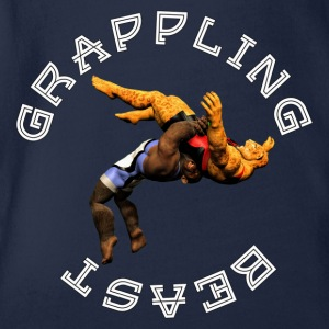 Grappling Biest (Affe vs Jaguar) - Baby Bio-Kurzarm-Body