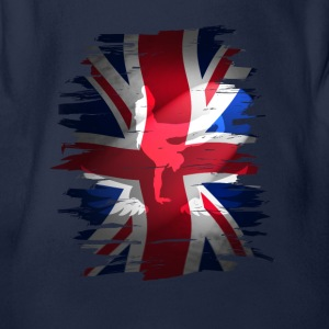 Union Jack flagget skater Uk England London lol COO - Økologisk kortermet baby-body