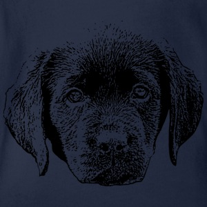 Labrador puppy - Organic Short-sleeved Baby Bodysuit