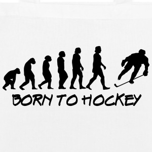 born to hockey - EarthPositive Tote Bag