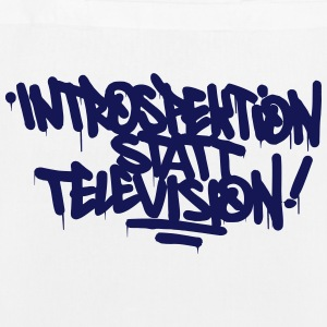 Introspection instead Television - EarthPositive Tote Bag