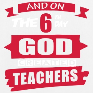 God Created Teachers - EarthPositive Tote Bag