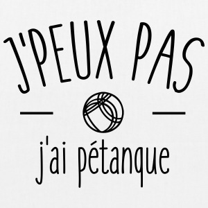 I can not I petanque - EarthPositive Tote Bag