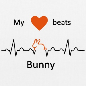My heart beats for rabbits - EarthPositive Tote Bag