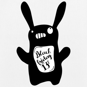 Black rabbit - EarthPositive Tote Bag