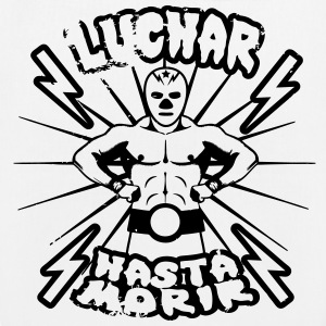 luchar hasta morir fighter wrestler t-shirt - Borsa ecologica in tessuto