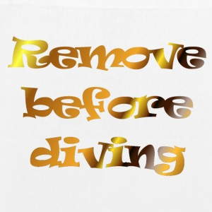 remove before diving - Bio stoffen tas