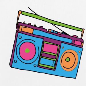 Hipster cassette recorder - EarthPositive Tote Bag