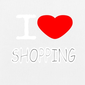 I LOVE SHOPPING - EarthPositive Tote Bag