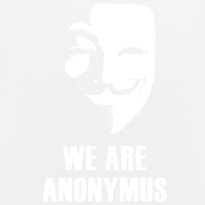 anonymus we are mask demonstration white revolutio - Bio-Stoffbeutel