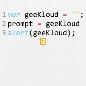 Codice JavaScript - GeeKloud - Borsa ecologica in tessuto