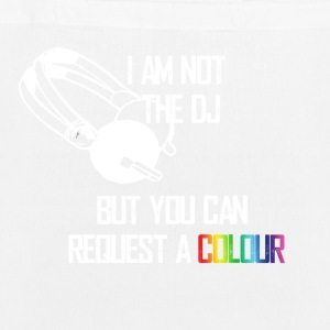 I_am_not_the_DJ_white - Sac en tissu biologique