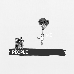 Hate People - T-Shirt & Hoody - EarthPositive Tote Bag