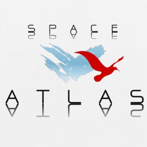 Space Atlas Baseball Tee Red - Øko-stoftaske