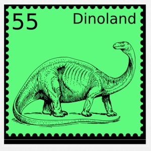 Dino Land Stamp - EarthPositive Tote Bag