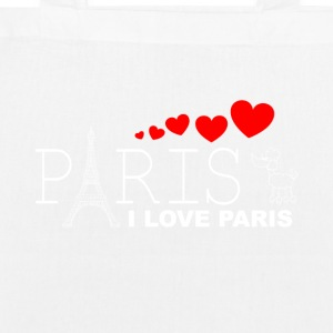 I LOVE PARIS 2WR - Øko-stoftaske