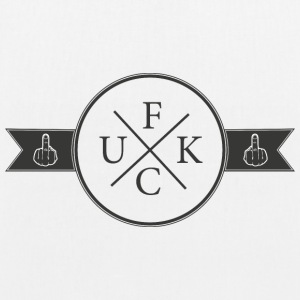 F/U/C/K Logo with middle finger - EarthPositive Tote Bag