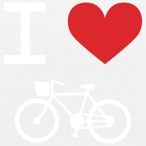 I love Bike - Bio-Stoffbeutel