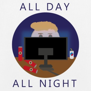 All Day - All Night | Gaming - Ekologisk tygväska