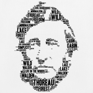 thoreau stencil word cloud - EarthPositive Tote Bag