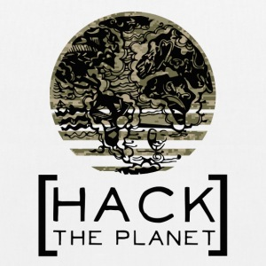 """Hack the planet"" motto T-shirt Camouflage - EarthPositive Tote Bag"