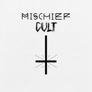 Mischief Cult | Upside Down Cross Design | Occult - EarthPositive Tote Bag