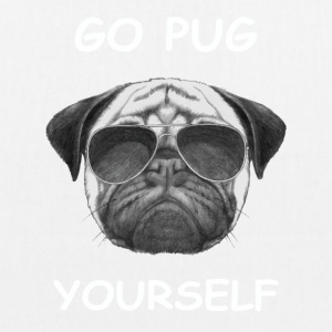 go pug yourself know - EarthPositive Tote Bag