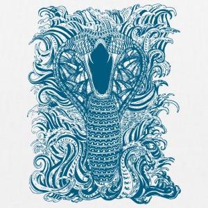 Snake-and-Water-in-Blue - EarthPositive Tote Bag