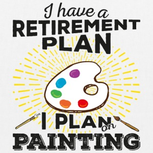 Retirement plan painting (dark) - EarthPositive Tote Bag
