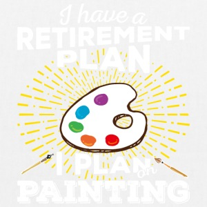 Retirement plan painting (light) - EarthPositive Tote Bag
