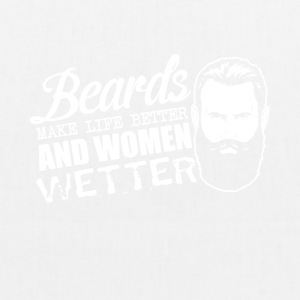 Pun - beards and women - sex, women wet - EarthPositive Tote Bag