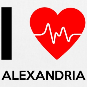 I Love Alexandria - I love Alexandria - EarthPositive Tote Bag
