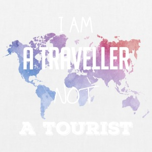 I am a traveler not a tourist - EarthPositive Tote Bag