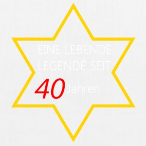 Birthday Living legend 40 - EarthPositive Tote Bag