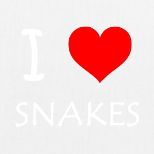 I Love Snakes - EarthPositive Tote Bag