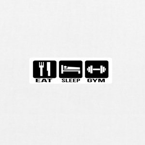Eat Sleep Gym - Borsa ecologica in tessuto