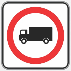 Road sign truck in circle - EarthPositive Tote Bag